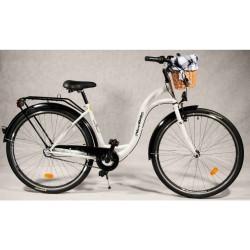 Rower miejski NiceBike 28'' Biały